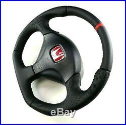 Flat Bottom Steering Wheel Honda Integra Dc5 S2000 CIVIC Type-r Sport Acura Rsx