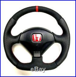 Flat Bottom Steering Wheel Honda Integra Dc5 S2000 CIVIC Typer Acura Rsx Stripe