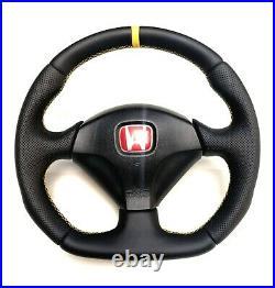 Flat Bottom Steering Wheel Honda Integra Dc5 S2000 CIVIC Typer Acura Rsx Yellow