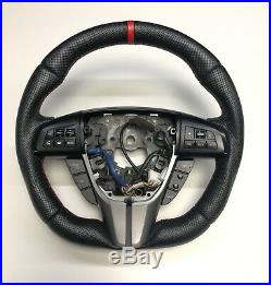 Flat Bottom Steering Wheel Mazda 3 2gen! Custom New Leather D Shape