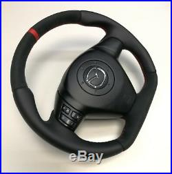 Flat Bottom Steering Wheel Mazda Rx8! Smooth Leather And Alcantara! R8 Style