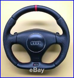 Flat Bottom Steering Wheel S4 B6 Rs6 C5! Extra Padding! Full Leather