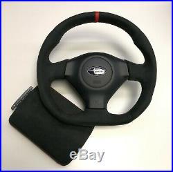 Flat Bottom Steering Wheel Subaru Impreza Gd Wrx + Armrest Lit Alcantara
