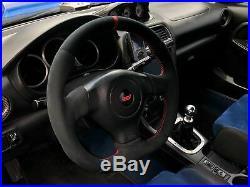 Flat Bottom Steering Wheel Subaru Impreza Gd Wrx Sti! D Shape Leather Alcantara