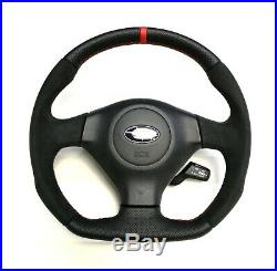 Flat Bottom Steering Wheel Subaru Impreza Gd Wrx Sti! Full Reshaped Red Stripe
