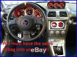 Flat Bottom Steering Wheel Subaru Impreza Gd Wrx Sti Leather + Alcantara Stripe