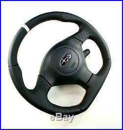 Flat Bottom Steering Wheel Subaru Impreza Gd Wrx Sti White Stripe