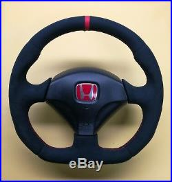 Flat Bottom Stering Wheel Honda CIVIC Type R S2000 Acura Rsx Integra Alcantara