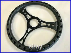 Flat Dish 5 Bolt Black Lightweight Racing Steering Wheel For Ford Mustang- C