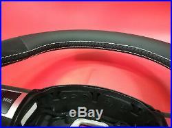 Flat bottom Alcantara AUDI A3 A4 A5 A6 S4 S5 S6 steering wheel paddle shifters