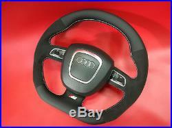 Flat bottom Alcantara AUDI A3 A4 A5 S4 S5 A6 S6 RS SEAT steering wheel S-line