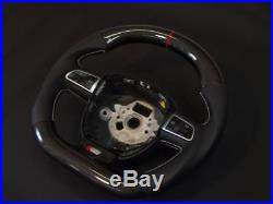 Flat bottom CARBON SMALL (345mm) steering wheel Audi A3, S3, A4, S4, A5, S5 A6, S6