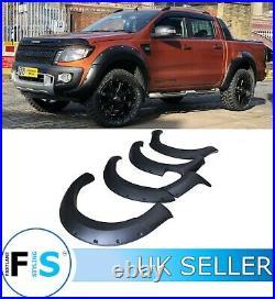 Ford Ranger Raptor T6 2012-2015 Matte Black 9 Wide Body Wheel Arch Fender Flare