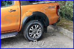 Ford Ranger T6 2016 on Double Cab EGR Wheel Arches 6PC Set in MATTE BLACK