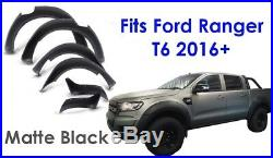 Ford Ranger T6 Raptor 2016 + MATTE BLACK Wheel Arch Kit Fender Flares