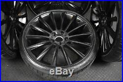 Four 20 Mercedes C Class C63 Alloy Wheels In Matte Black WIth Tyres! 5 x 112