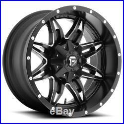 Fuel D567 Lethal 15x8 5x4.5/5x4.75 -18mm Black/Milled Wheel Rim 15 Inch