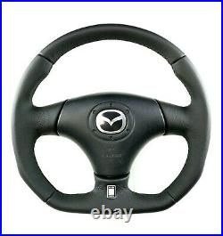 Full RESHAPED FLAT BOTTOM steering wheel MAZDA RX-7 RX7 FD3S FULL leather