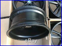 Genuine 19 Bmw 3 Series M Sport Wheels Black F30 F32 4 442m 7846780 7846781