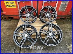 Genuine Aluwerks Tw5 Volkswagen Golf R Cadiz Mk7/6 18inch Black Alloy Wheels