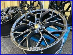 Genuine Aluwerks Xt1 Vw T6 Sportline Alloy Wheels 19 Black Satin Vivaro Trafic