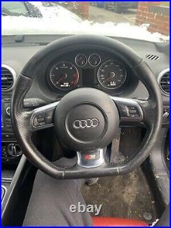 Genuine Audi A3 S-line 8p Black Leather Flat Bottom Steering Wheel 8j0419091g