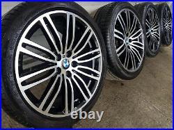 Genuine BMW 5 Series G30 G31 19 664 M Sport Alloy Wheels & Run Flat Tyres Black
