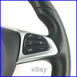 Genuine Mercedes AMG red stitched steering wheel with airbag. A B Class etc. 1A