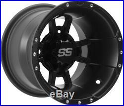ITP 10 Front 10 Rear SS112 Matte Black Sport Wheels YZF450 Raptor 700 Banshee