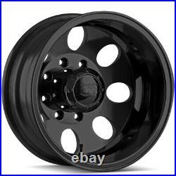 Ion 167 Dually Rear 17x6.5 8x6.5 Matte Black Wheel Rim