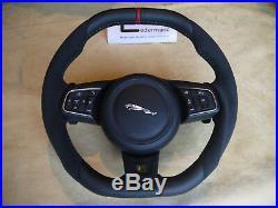 Jaguar custom Alcantara steering wheel XE XF F-Pace R S thick flat bottom & top