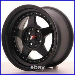 Japan Racing JR6 Alloy Wheel 15x8 4x108 / 4x100 ET25 Matt Black