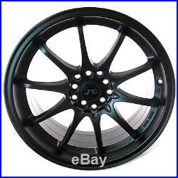 Jnc 006 17x8 5x100/5x114.3 +28 Matte Black Set Of 4 Wheels