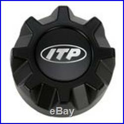 Kit 4 BKT AT 171 Tires 31x9-16 on ITP Hurricane Matte Black Wheels IRS