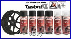 MATT BLACK Alloy Wheel Spray Paint Kit with MATT Effect Clear Lacquer 6 CANS