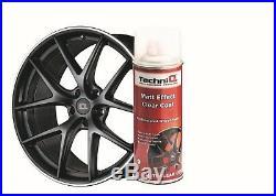 MATT BLACK Alloy Wheel Spray Paint MATT Clear Coat Lacquer FROZEN LOOK 4 CANS