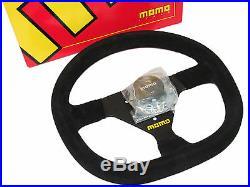 MOMO Steering Wheel Mod 88 (320mm/Suede/Black Spoke/Flat Bottom)