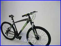 Matt Black 21 Speed Mtb Mountain Bike Bicycle 27.5 Wheel 18 Frame