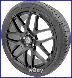Matt Black Alloy Wheels 20 XL Tyres VW Transporter T5 T6 Panel Kombi Camper Van