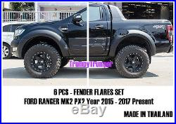 Matte Black Fender Flares Wheel Arch For Ford Ranger Mk2 Px Wildtrak 2015 2017 K
