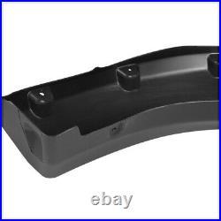 Matte Black Pocket Bolt/Rivet Fender Flares Wheel Cover for 09-14 Ford F-150