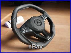 Mercedes AMG THICK FLAT steering wheel C GLE W205 CLS W218 W213 GLS GLE GLC GLA