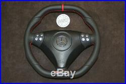 Mercedes Benz SLK R171 W203 C AMG FACELIFT customized steering wheel flat bottom