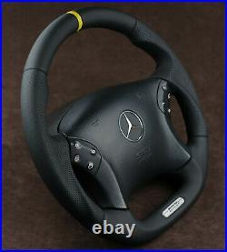 Mercedes Custom Steering Wheel FLAT BOTTOM THICK 00-07 C Class W203 C55AMG C32