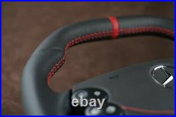 Mercedes Custom Steering Wheel Flat Bottom + Leather SRS BAG R230 W463 W209 W211