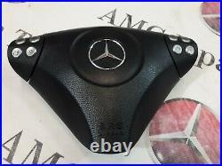 Mercedes SLK R171 W171 55 C-class W203 Flat Bottom Steering Wheel Carbon Fiber