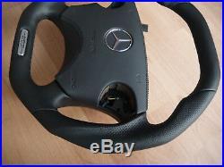 Mercedes W210 W208 CLK E55AMG CLK55AMG Steering Wheel flat bottom +leather SRS
