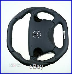 Mercedes custom steering wheel W210 W208 W463 flat TOP & bottom leather SRS AMG