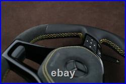 Mercedes custom steering wheel W212 W204 W218 W463 flat top & bottom big paddles