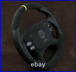 Mercedes custom steering wheel flat bottom Alcantara R230 W219 W209 W211 W463
